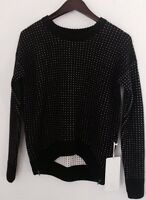 Lululemon Yogi Crew Sweater Hearts Zips Black White Sz 8 NWT
