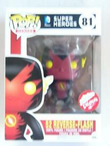 FUNKO POP VINYL   DC   52 REVERSE-FLASH 81   FUGITIVE TOYS with .6mm Protector
