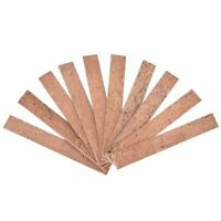 10PCS 81 x 11 x 2mm Natural Clarinet Neck Cork Sheet for for bB Clarinet