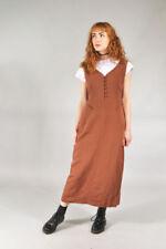 Vestiti da donna marrone scollo a v cotone
