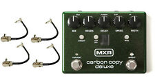 Mxr Carbon Copy Deluxe Analog Delay Guitar Effects Pedal M292 ( 4 Patch Cables )