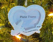 In Our Hearts Forever Memorial Photo Frame Personalized Christmas Ornament