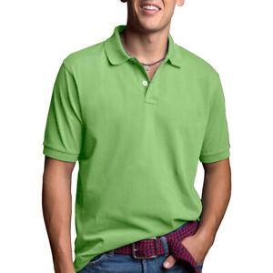 Men's Polo Shirt Dri-Fit Golf Sports Plain Cotton Jersey T Shirt Short Sleeve