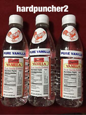 3 Plastic Bottles Danncy Clear Mexican Vanilla Extract 12oz Each