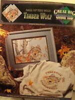"""True Colors Cross Stitch Patterns Charts  """"Great Big Graphs"""" Timber Wolf  1992"""