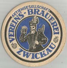 Vereins-Brauerei, Zwickau, Bier, Bierdeckel, VK, Vorkrieg