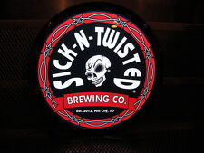 Sick N Twisted Brewing S Dakota Sugar Skull New~ Led Light Up Beer Tacker Sign