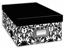 Pioneer Photo Album Photo Storage Box Holds Over 1,100 Photos - Damask Design
