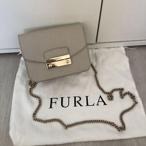Furla Metropolis Bag Crossbody Mini Grey