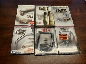 Saw 1-6 DVD Movie Collection Set 1 2 3 4 5 6  Lot Disc Pre-Owned