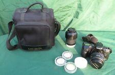 Minolta Dynax 500si Plus 4 Lenses, Selfie Lead and Bag