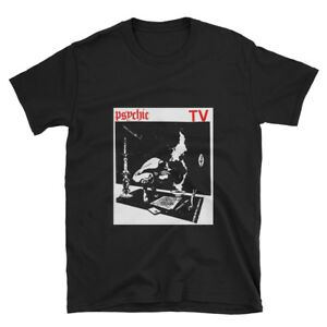 Psychic TV - gig flyer - limited edition black tribute t-shirt