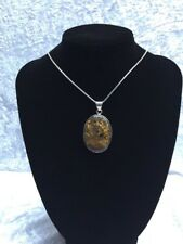 Sterling Silver Bronze Crystal Pendant  925 Silver Jewellery