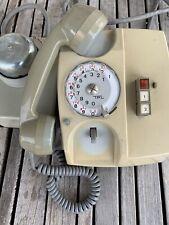 TELEPHONE PROFESSIONNEL VINTAGE CADRAN ROTATIF GRIS/VERT PICART-LEBAS