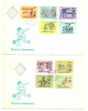 HUNGARY 1965 = TENNIS = 4 x COVER ( PERF/ IMPERF ) VF
