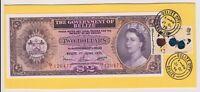 Belize F. British Honduras Banknote 2 Dollars 1975 P34a UNC Queen Elizabeth FDC