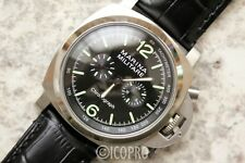 44MM MILITARE MARINA CHRONO QUARTZ WW2 ITALIAN NAVY PAM HOMAGE WATCH PARNIS
