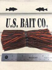 Bass Jig Skirts Living Rubber Lot Of 10 Color Brown Black Orange