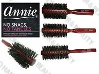 Annie Wooden Classic Round Radial Hair Brush Boar Bristles Various Sizes