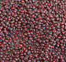 11/0 Czech Red Picasso Glass Seed Beads 10-Grams TINY Glass Beads