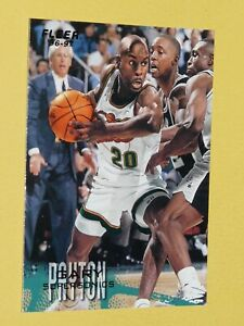 #103 GARY PAYTON SEATTLE SONICS 1996-1997 NBA BASKETBALL FLEER CARD USA