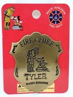Disney Magic Kingdom Fireman & Mickey Mouse Fire Chief Badge /Pin For TYLER