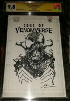 Edge of venomverse #1 Cgc 9.8 Signed And Sketched by. Skan. scorpion comics exl.