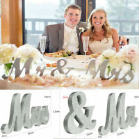 Sparkle White Mr & Mrs Letters Sign Standing Top Table Wedding Party Decoration