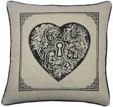 Polyester Heart Decorative Cushion Covers