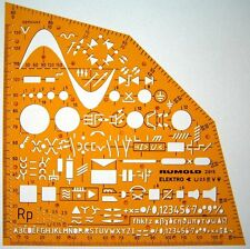 Electrical and Electronic Installation Symbols Drawing Template Stencil. New