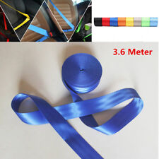 3.6M Blue Universal Racing Car Front 3 Point Safety Retractable Seat Lap Belt