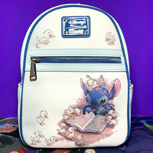 LOUNGEFLY DISNEY STITCH & DUCKLINGS  MINI BACKPACK