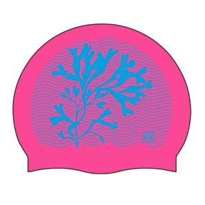 Swim Secure Silicone Swim Cap - Coral Design - One Size *NEW*