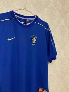 BRAZIL 1997 1998 WORLD CUP AWAY FOOTBALL SOCCER SHIRT JERSEY NIKE VINTAGE SIZE M