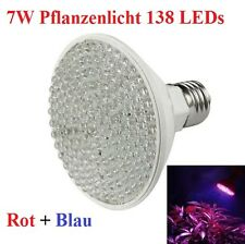 7W 138 LED Grow Pflanzen Lampe Wachstumslampe E27 Grow Plant Light Full Spectrum