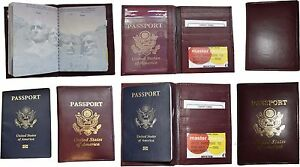 Lot of 6 New lambskin leather Passport cover. ID case credit card wallet bnwt+*