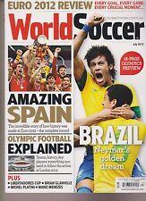 WORLD SOCCER MAGAZINE UK JULY 2012, EURO 2012, AMAZING SPAIN, BRAZIL NEYMAR'S.