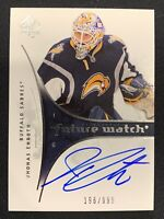 2009-10 SP AUTHENTIC JHONAS ENROTH ROOKIE FUTURE WATCH AUTO #ed 196/999