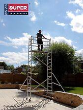 SUPER DIY 5.5M (Height Adjustable Wheels) - Aluminium Scaffold Tower / Towers