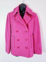 Garnet Hill Coat 4 Pink Wool Blend Pea Coat Womens k