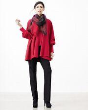 NWT Eileen Fisher GARNET Lightweight Boiled Merino Wool Enveloped Coat L $298