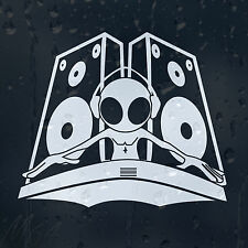 DJ Alien Loudspeakers Car Decal Vinyl Sticker For Window Or Panel Or Bumper