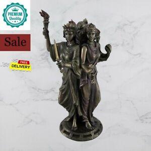Hecate Greek Mythology Goddess of Magic & Witchcraft Statue Bronze Finish décor