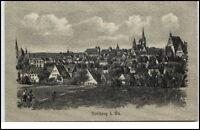 Freiberg Sachsen schöne alte Postkarte ~1910/20 Gesamtansicht Totale ungelaufen