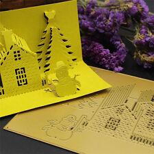 3D Haus Cutting Dies Stencil DIY Scrapbook Album Karte Tagebuch Stanzschablone