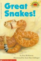 Great Snakes! (level 2) (Hello Reader) by Fay Robinson