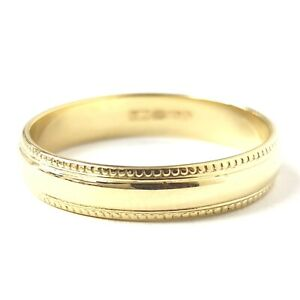 18ct Gold Wedding Ring Men's Ladies Band Yellow 3.5mm Wide 3.1g Size O 1/2