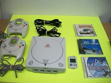 Sega Dreamcast Console Bundle Lot - with 3 Games! TESTED