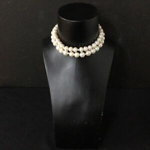 Beautiful Large Cream Coloured Pearl Necklace 70cm Long #454