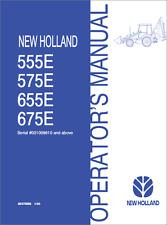 New Holland 555E, 575E, 655E, 675E Backhoe Loader Operators Manual (B356)